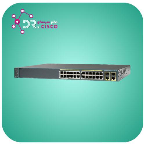 سوئیچ CISCO WS-C2960-24PC-L از محصولات فروشگاه اینترنتی دکتر سیسکو