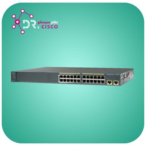 سوئیچ CISCO WS-C2960-24TT-L از محصولات فروشگاه اینترنتی دکتر سیسکو