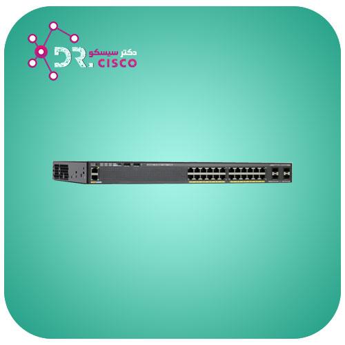 سوئیچ WS-2960X-24PD-L از محصولات فروشگاه اینترنتی دکتر سیسکو