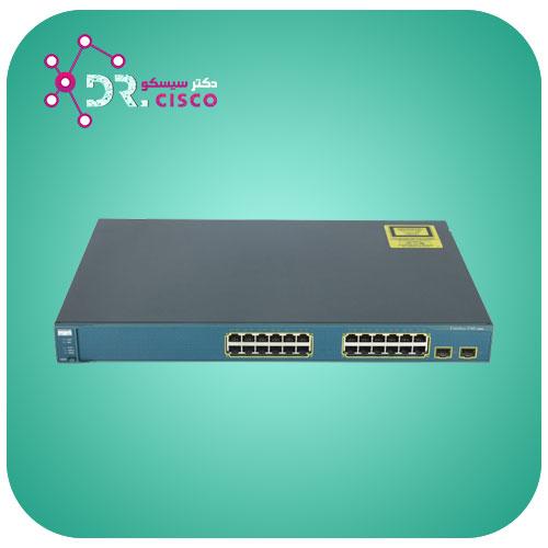 سوئیچ سیسکو مدل WS-C3560V2-24TS-S از محصولات فروشگاه اینترنتی دکتر سیسکو
