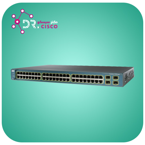 سوئیچ سیسکو WS-C3560V2-48TS-S از محصولات فروشگاه اینترنتی دکتر سیسکو
