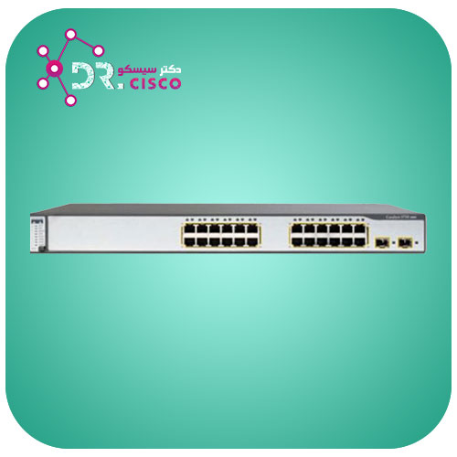 سوئیچ CISCO WS-C3750-24PS-S از محصولات فروشگاه اینترنتی دکتر سیسکو