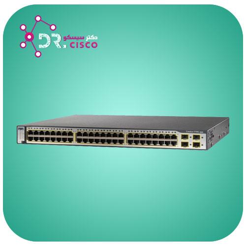 سوئیچ CISCO WS-C3750G-48TS-S از محصولات فروشگاه اینترنتی دکتر سیسکو