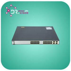 سوئیچ CISCO WS-C3750G-24PS-S از محصولات فروشگاه اینترنتی دکتر سیسکو