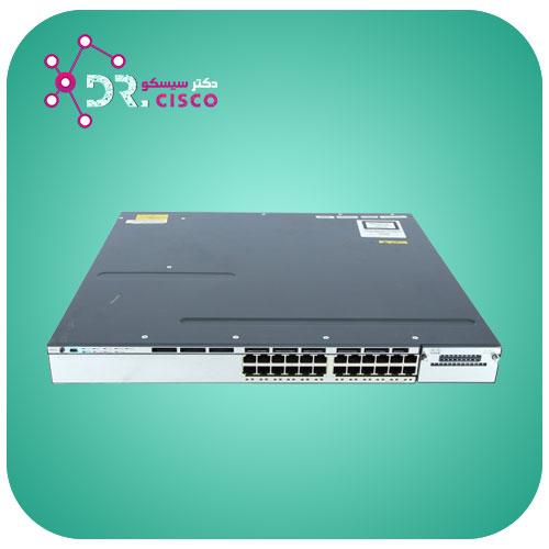 سوئیچ سیسکو CISCO WS-C3750X-24T-S از محصولات فروشگاه اینترنتی دکتر سیسکو