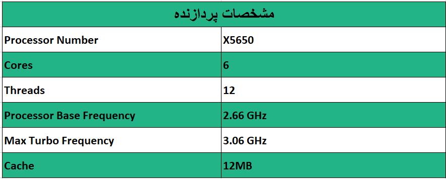 پردازنده اینتل زئون Intel Xeon X5650 - از محصولات فروشگاه اینترنتی دکتر سیسکو