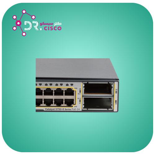 سوئیچ سیسکو CISCO WS-C3750E-24PD-S از محصولات فروشگاه اینترنتی دکتر سیسکو