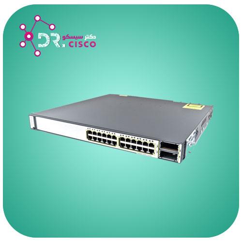 سوئیچ سیسکو CISCO WS-C3750E-24TD-S از محصولات فروشگاه اینترنتی دکتر سیسکو